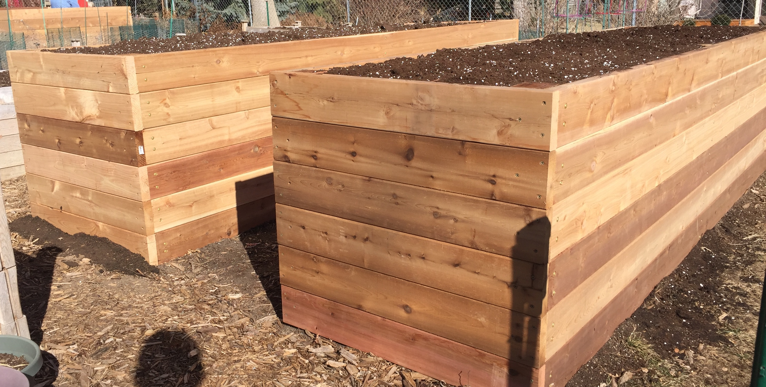 How to build a vegetable garden box - Built Out Of Red Cedar Lumber Raised Garden Boxes Reduce Weeds Are Easy To Pick Produce From And Make Gardening More Fun